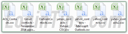 how to create a csv file from contacts files