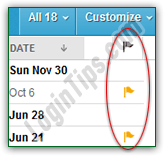 Flag email messages in AOL Mail