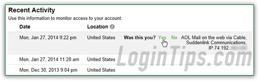 aol email login my account
