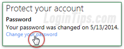 how to change password for outlook.live
