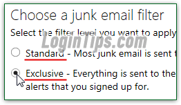 Configure your spam filter level