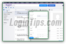 Add sender to contacts in Yahoo Mail / create new contact