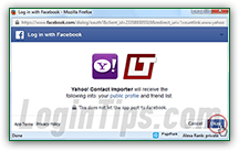 yahoo mail with facebook login