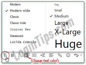 keynote how to change text sze